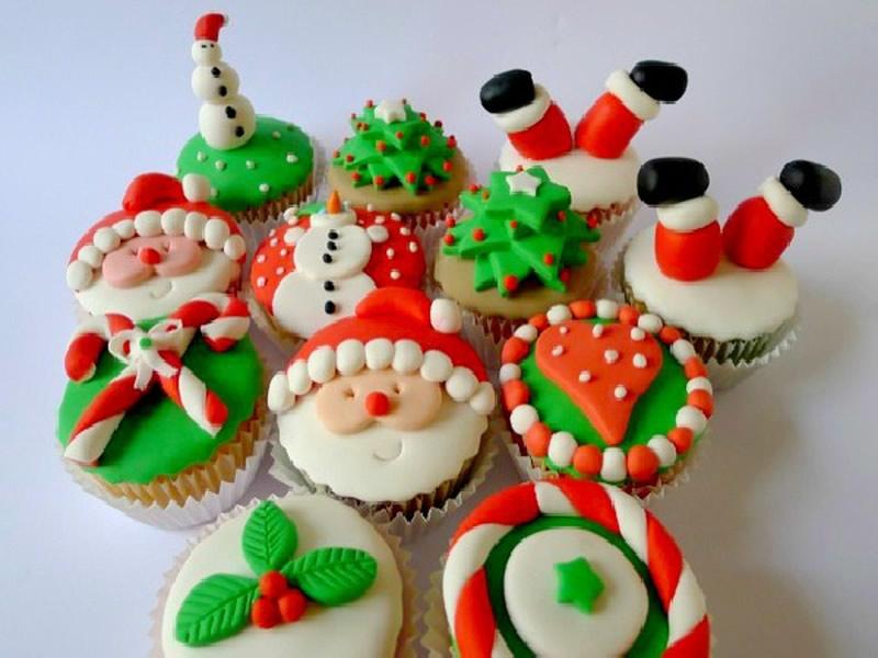 Sitios con recetas de cocina para la cena de Navidad o Año Nuevo - recetas-cupcakes-navidad-800x600