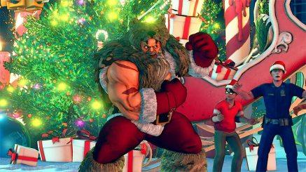 Street Fighter V recibe una actualización muy navideña - zangief_holiday