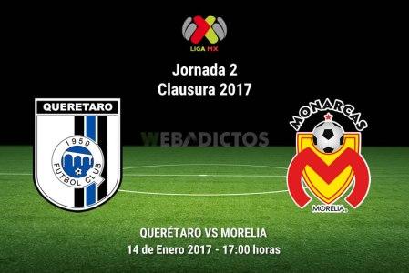 Querétaro vs Morelia, Jornada 2 del Clausura 2017 | Resultado: 0-0