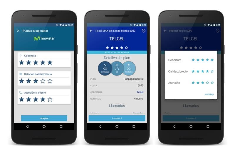 WePlan ahora te permite calificar a las compañías telefónicas - weplan-calificacion-operador