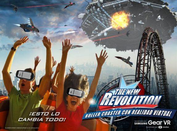 ataque galactico roller coaster con realidad virtual Six Flags y Samsung México anuncian la primer experiencia en el mundo de Realidad Aumentada