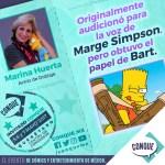 Bart y Marge en una misma voz… Marina Huerta en CONQUE 2017