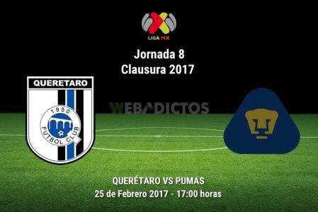 Querétaro vs Pumas, Jornada 8 del Clausura 2017 ¡En vivo por internet!