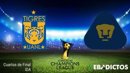 Tigres vs Pumas, Concachampions 2017 ¡En vivo por internet! | Cuartos de Final