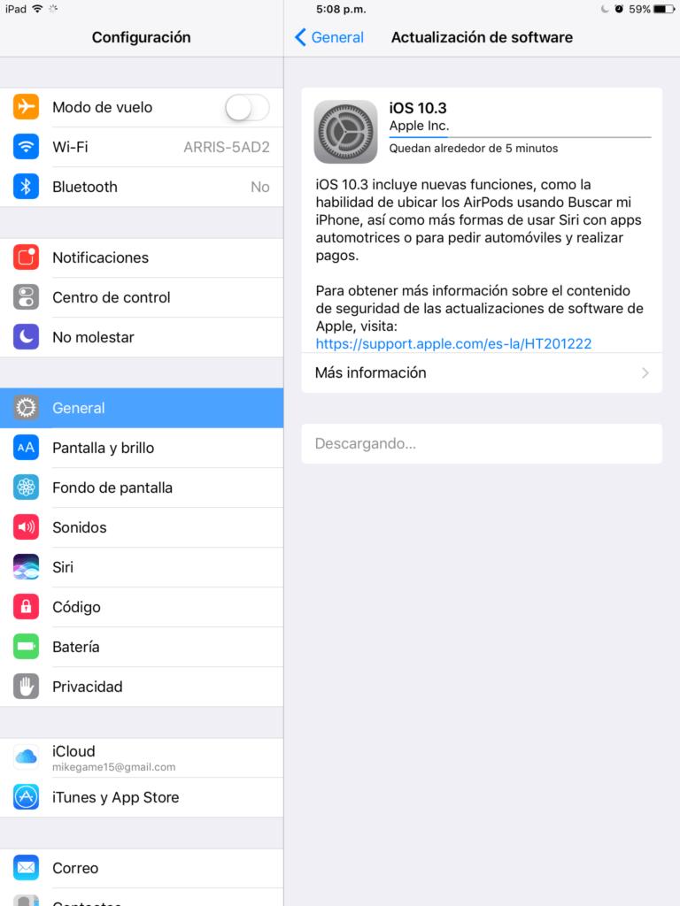 Apple lanza la versión pública de iOS 10.3 - downloading-ios-10-3
