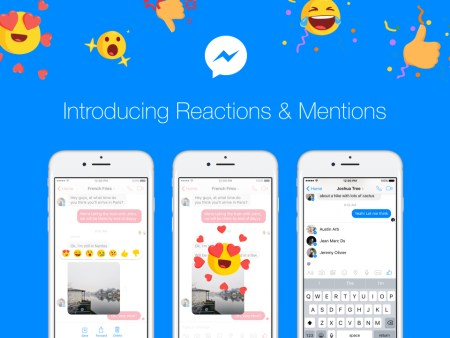 Facebook Messenger añade reacciones y menciones dentro de chats grupales