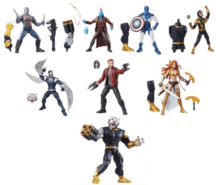 Hasbro presentará su nueva colección 2017 en la expo LA MOLE Comic - marvel-legends-series-guardianes-de-la-galaxia