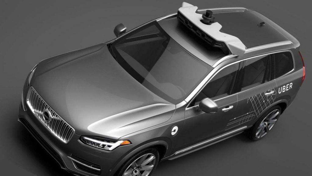 Uber reinicia pruebas de coches autónomos - uber-volvo-roof