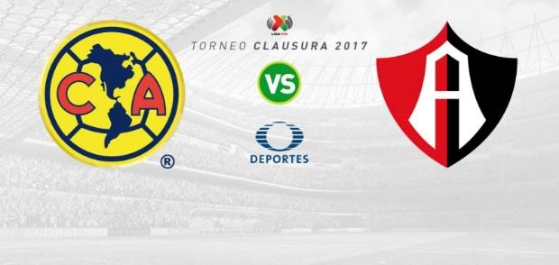América vs Atlas, J16 de la Liga MX C2017 | Resultado: 1-2 - america-vs-atlas-clausura-2017-en-vivo