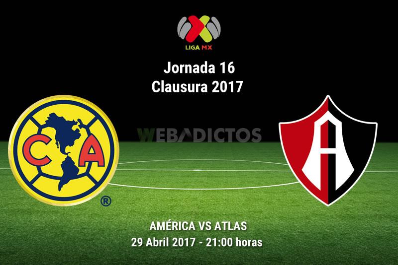 América vs Atlas, J16 de la Liga MX C2017 | Resultado: 1-2 - america-vs-atlas-j16-clausura-2017