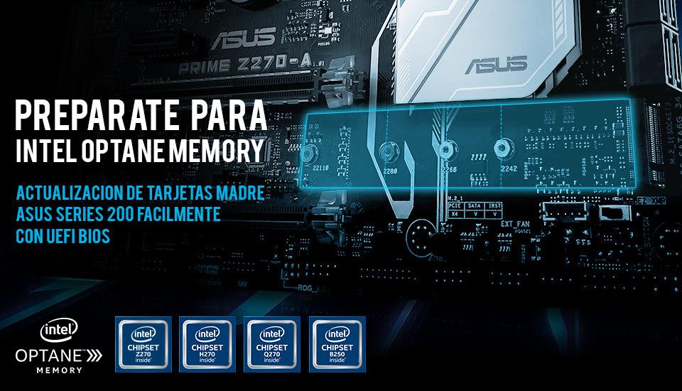 ASUS Anuncia Soporte para la Memoria Intel Optane - asus-mermoria