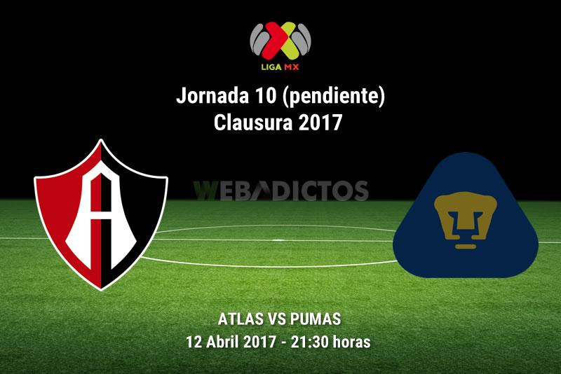 Atlas vs Pumas, Fecha 10 Clausura 2017 (Pendiente) | Resultado: 1-1 - atlas-vs-pumas-j10-pendiente-clausura-2017