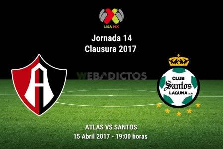 Atlas vs Santos, Jornada 14 Liga MX C2017 | Resultado: 1-1