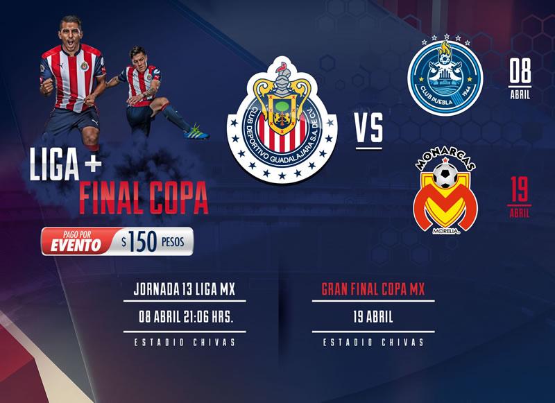 Horario Chivas vs Puebla en la Jornada 13 C2017 y opciones para verlo - chivas-vs-puebla-j13-clausura-2017-chivas-tv