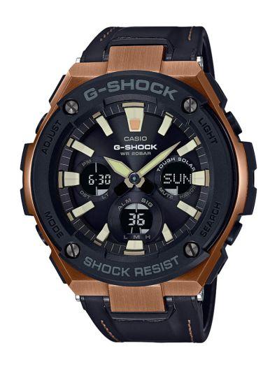 G-Shock por primera vez incorpora extensibles híbridos de piel en su línea G-STEEL - gst-s120l-1a_dr