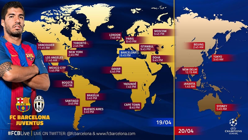 horario barelona vs juventus champions 2017 Horario Barcelona vs Juventus y en qué canal; Cuartos de Champions 2017