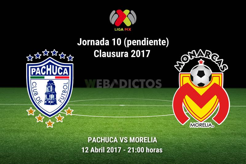 Pachuca vs Morelia, Jornada 10 (pendiente) C2017 | Resultado: 0-0 - pachuca-vs-morelia-j10-pendiente-clausura-2017