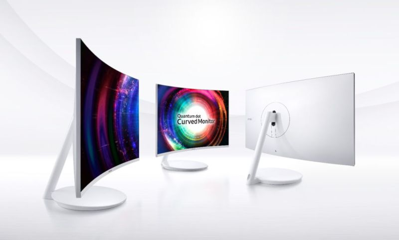 quantumdotcurvegamingmonitor1 800x481 Samsung lanza monitores curvos con tecnología Quantum dot en México