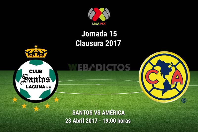 Santos vs América, J15 de la Liga MX C2017 | Resultado: 2-1 - santos-vs-america-j15-clausura-2017