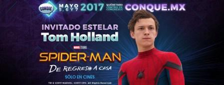 Spider-Man presente en CONQUE 2017, evento de cómics y entretenimiento de México