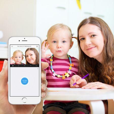 Mantén seguro a tus hijos con una cámara domestica inteligente