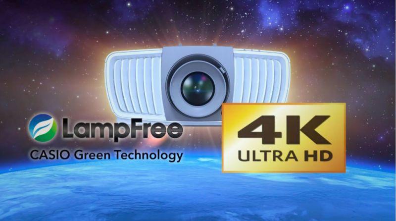 casio lampfree 4k uhd 800x446 Nuevo proyector Casio de resolución 4K Ultra HD ¡Ya disponible en México!