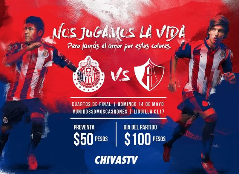 Chivas vs Atlas, Liguilla del Clausura 2017 | Resultado: 1-0 - chivas-vs-atlas-liguilla-c2017-chivas-tv