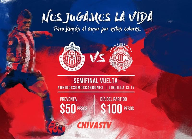 Chivas vs Toluca, Semifinal Clausura 2017 | Resultado: 1-1 - chivas-vs-toluca-semifinal-c2017-chivas-tv