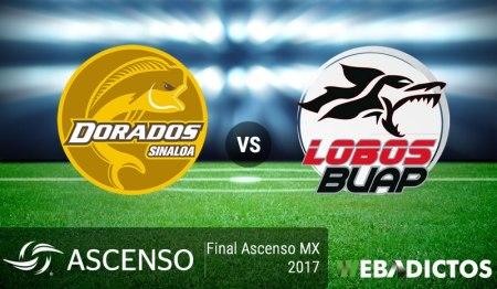 Dorados vs Lobos BUAP, Final de Ascenso 2017 ¡En vivo por internet! | vuelta