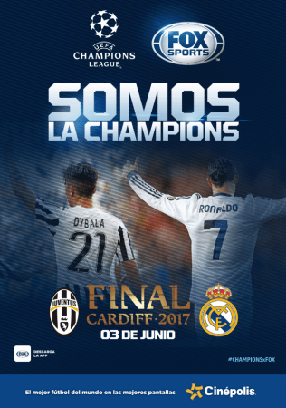 Final de la Champions 2017: Real Madrid vs Juventus en vivo por Cinépolis