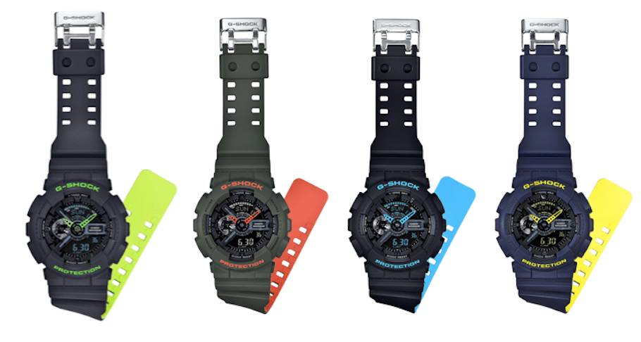 G Shock presenta su nueva serie Layered Neon Color