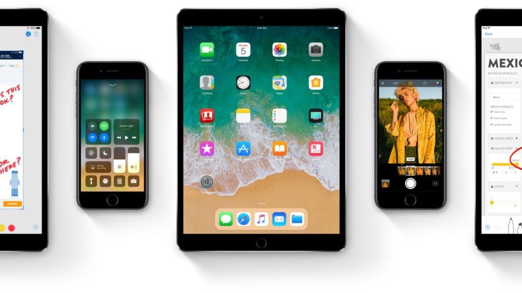 Apple lanza la primera beta pública de iOS 11 - ios-11-family