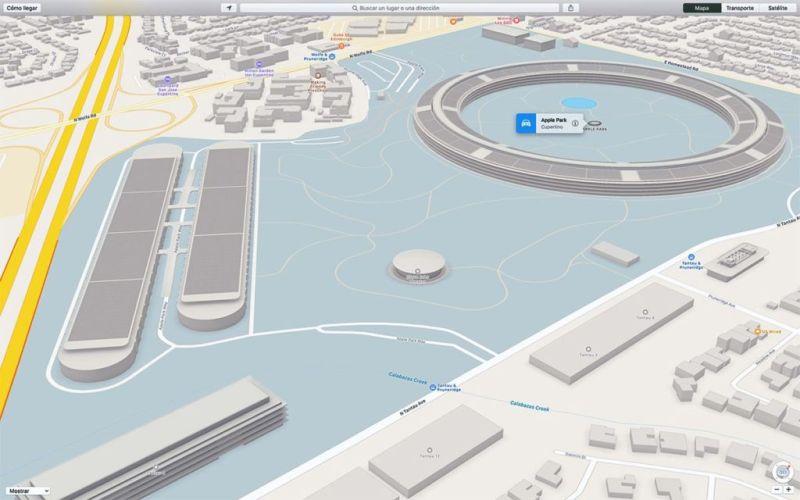 Ya puedes ver en 3D el Apple Park en los Mapas de Apple - medio-apple-park