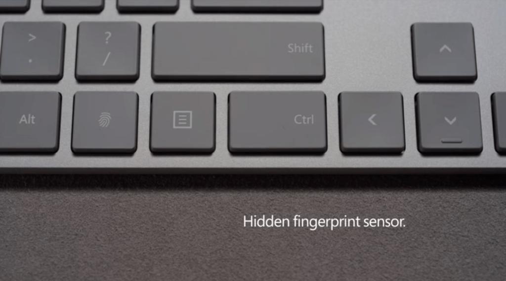 microsoft modern keyboard 1 El nuevo teclado de Microsoft tiene un sensor de huellas dactilares integrado