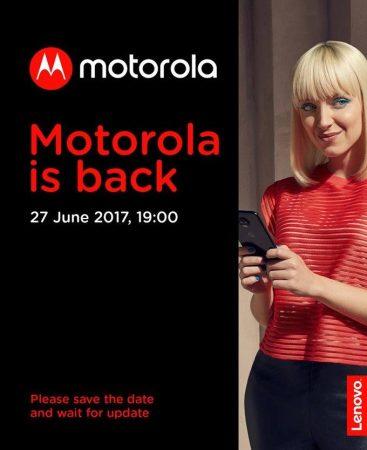 Motorola anuncia un evento para este 27 de junio