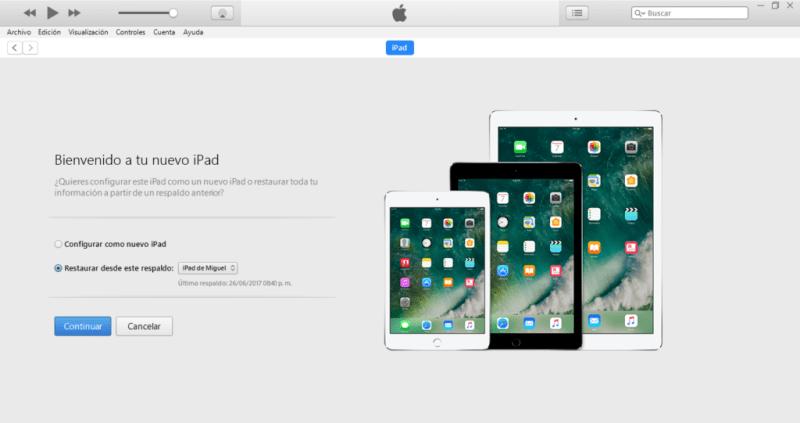 Regresa tu iPhone, iPad o iPod Touch a iOS 10 desde iOS 11 Beta - restaurar-ipad