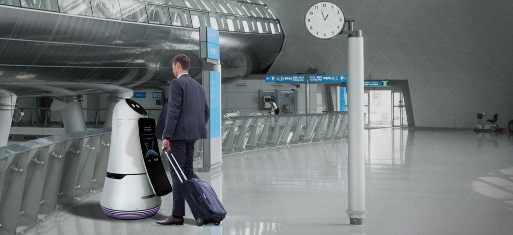 Los robots de LG ofrecerán un servicio a los visitantes del Aeropuerto más grande de Corea - airport-guide-robot-01