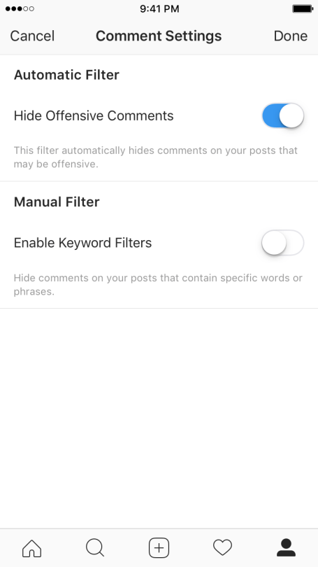 Instagram atacará a trolls mediante Inteligencia Artificial - antiabuse-filter