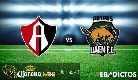 Atlas vs Potros UAEM, Jornada 1 Copa MX A2017   Resultado: 2-1