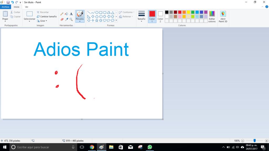 Microsoft le dirá adios a Paint en la Fall Creators Update de Windows 10 - bye-paint