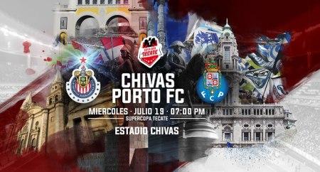 Chivas vs Porto, Súper Copa Tecate 2017 | Resultado: 2-2
