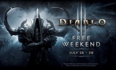 Diablo III: Ultimate Evil Edition ¡Gratis este fin de semana con Xbox Live Gold!