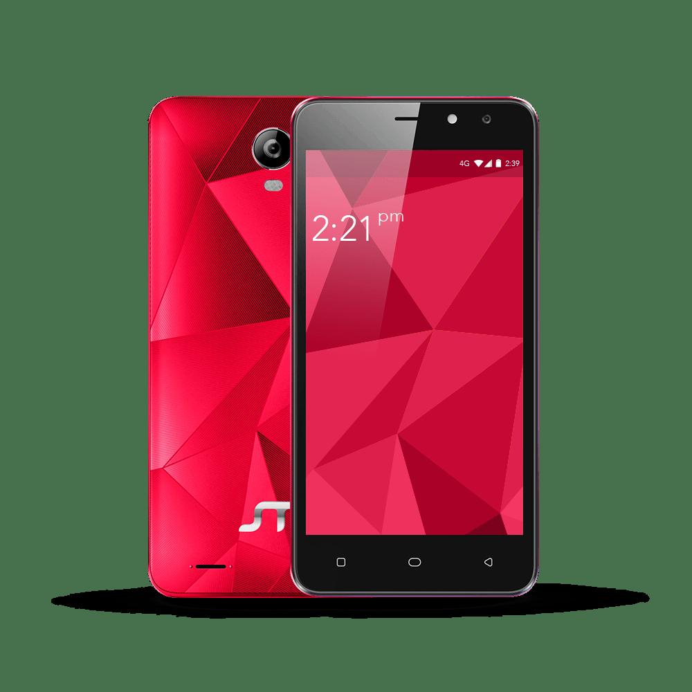 Fractal, un smartphone 4G que integra entrada dual SIM - fractal-rojo