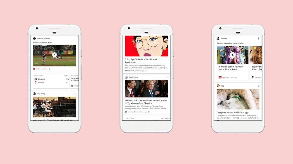 Google actualiza su app para ofrecer su versión del Facebook Feed