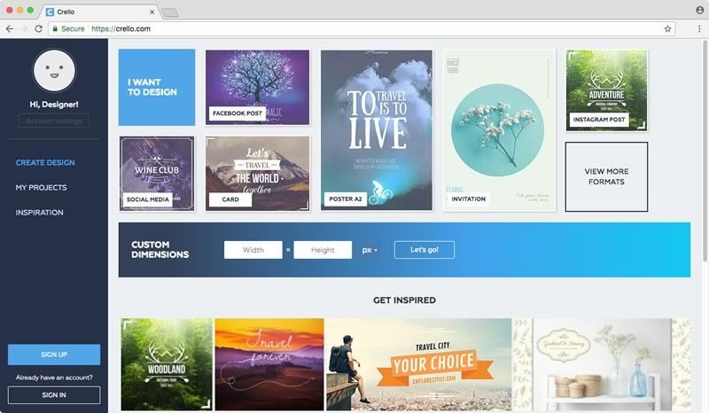 Crea imagenes para Facebook, postales y más gratis con Crello ¡Ahora en español! - hacer-imagenes-facebook-online-crello
