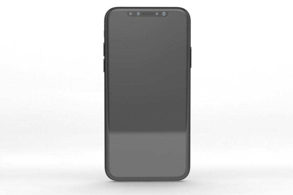 iphone 8 render front El iPhone 8 podría integrar el TouchID en el botón de encendido