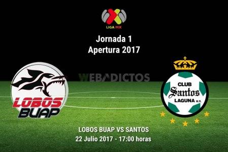 Lobos BUAP vs Santos, Jornada 1 Apertura 2017 | Resultado: 2-2