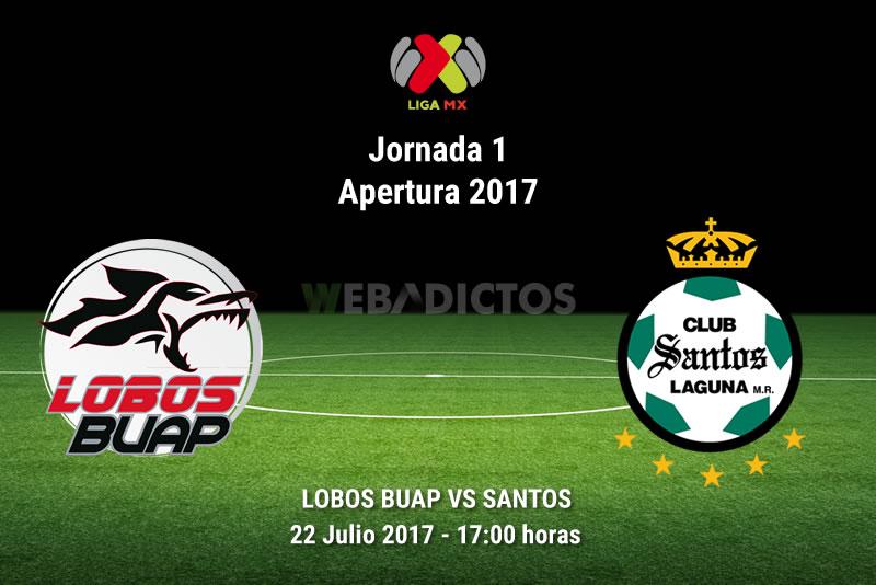 Lobos BUAP vs Santos, Jornada 1 Apertura 2017 | Resultado: 2-2 - lobos-buap-vs-santos-j1-apertura-2017