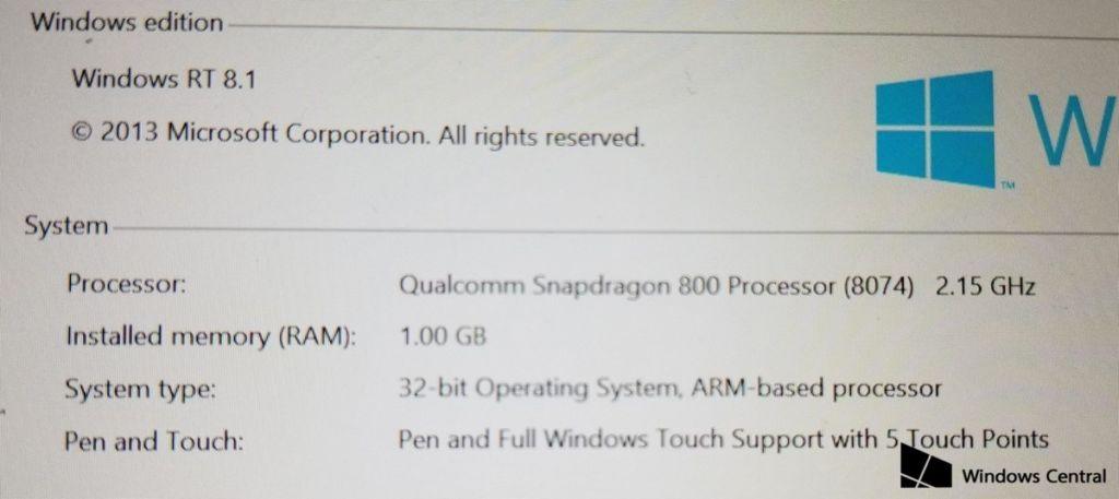 Conoce a la Surface Mini: la pequeña tablet de Microsoft que nunca se presentó - sm-specs