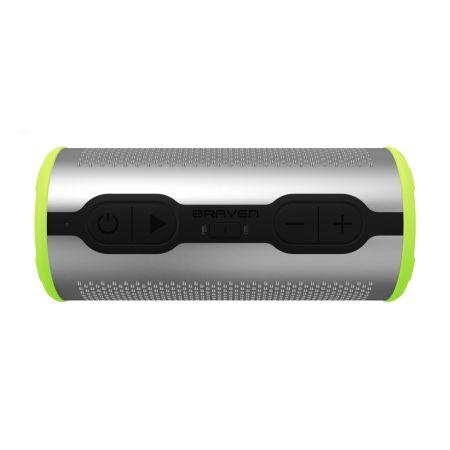 BRAVEN lanza bocina Bluetooth impermeable: Stryde 360 ¡sonido de 360 grados! - stryde360-silverelectric_e